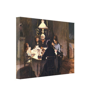 At the Table by Claude Monet Canvas Print