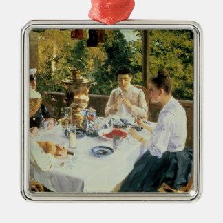 At the Tea-Table, 1888 Christmas Ornament