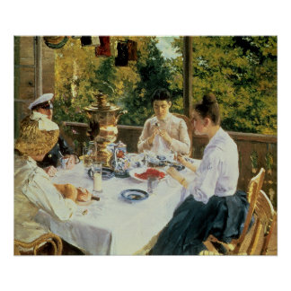At the Tea-Table, 1888 Poster