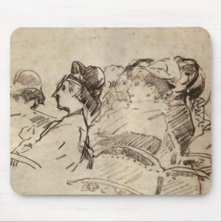 At the Theater by Edouard Manet Mouse Pad