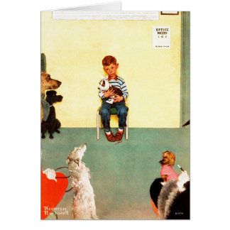 At The Vets by Norman Rockwell Card