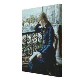 At the Window, 1881 Canvas Print