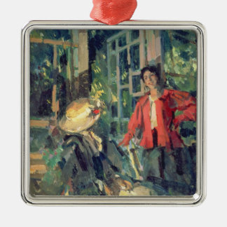 At the Window, 1919 Christmas Ornament