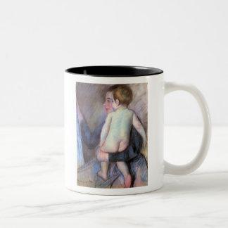 At the Window, Mary Cassatt Two-Tone Coffee Mug