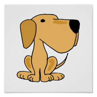 AT- Yellow Labrador Retriever Poster