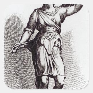 Atalanta, c.1653 square sticker