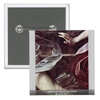 Atalante And Hippomenes Detail By Guido Reni 15 Cm Square Badge