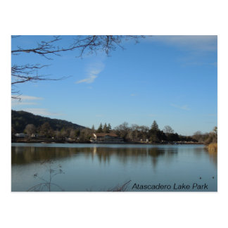 Atascadero Lake Park Pavilion Postcard