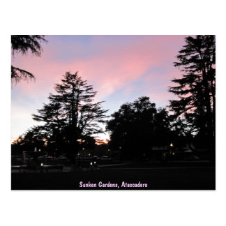 Atascadero Sunken Gardens at Sunset Postcards