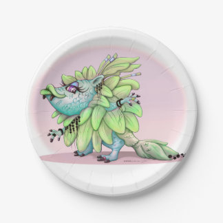 ATAZA ALIEN MONSTER PLATE 7 INCHES 7 INCH PAPER PLATE