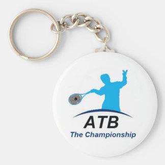 ATB White champ Basic Round Button Key Ring