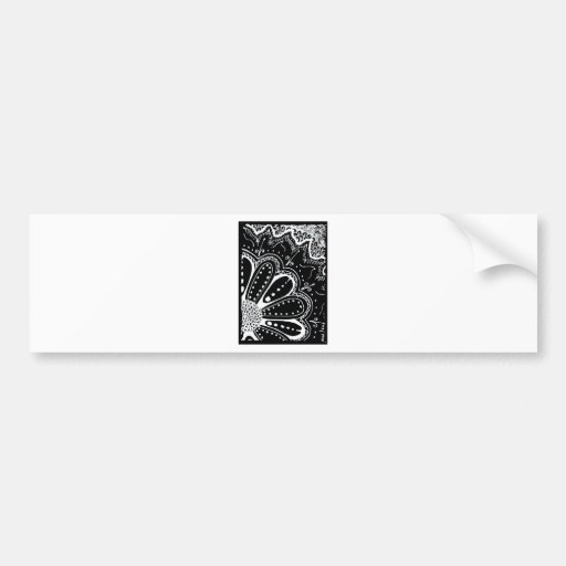 ATC black flower Bumper Sticker