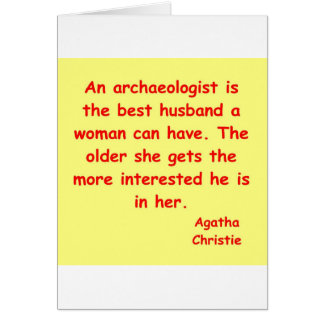 atchaeologist husband greeting card