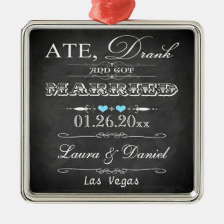 Ate, Drank and Got Married Christmas Keepsake Christmas Ornament