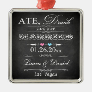 Ate, Drank and Got Married Christmas Keepsake Christmas Ornament