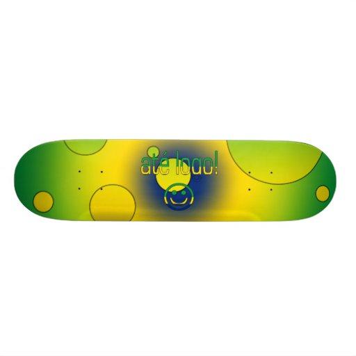 Até Logo! Brazil Flag Colors Pop Art Skate Decks