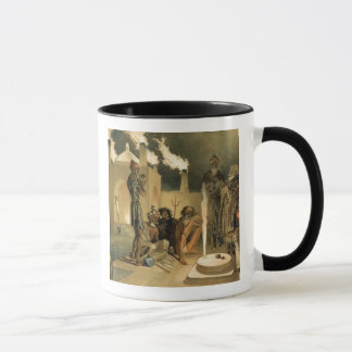 Ateseh-Gah, Indians Devoted to the Cult of Fire, B Mug