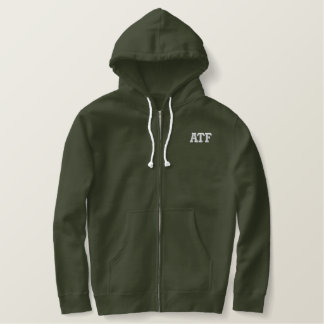 ATF STYLE EMBROIDERED HOODIE