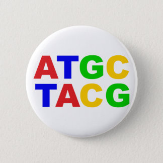 ATGC nucleus bases of nucleobases 6 Cm Round Badge