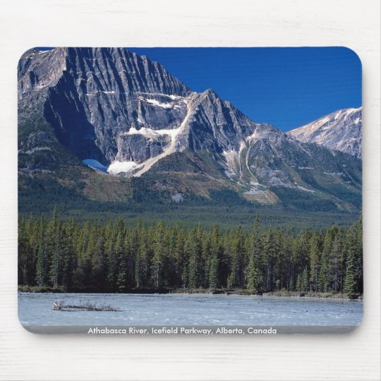 Athabasca River, Icefield Parkway, Alberta, Canada Mouse Mat