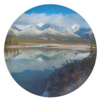 Athabasca River, Jasper National Park, Alberta Plate