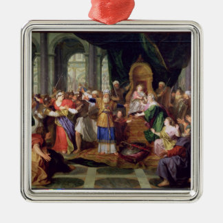 Athaliah Expelled from the Temple, c.1697 (oil on Christmas Ornament