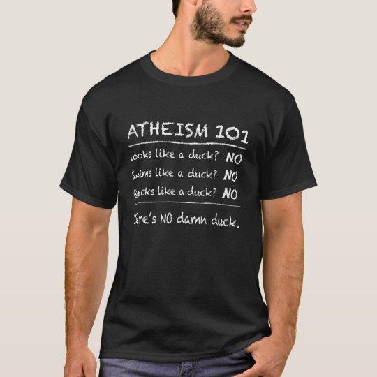 ATHEISM 101 (Dark background) T-Shirt