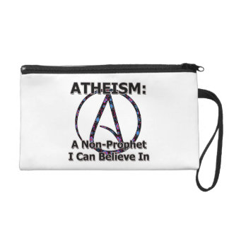 Atheism: A Non-Prophet I Can Believe In Wristlet Clutch