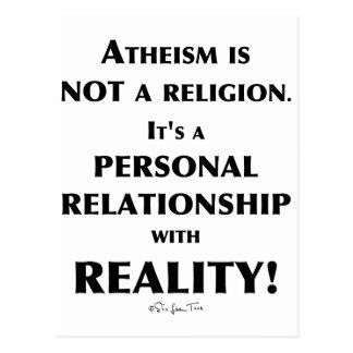 Atheism and Reality Postcard