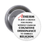 Atheism Is A Crutch Badges