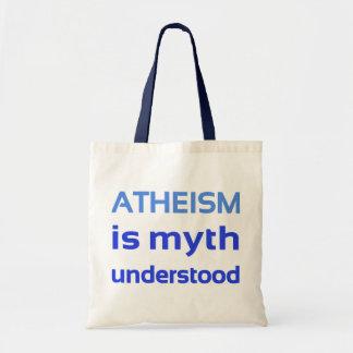 Atheism is myth understood canvas bag