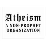 Atheism Non-Prophet Post Card