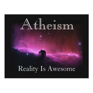 Atheism, Reality is awesome Postcard