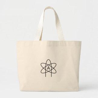Atheism Symbol #3 Jumbo Tote Bag
