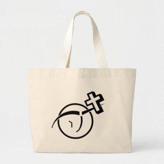Atheism v Cross Canvas Bag
