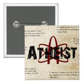 Atheist 15 Cm Square Badge