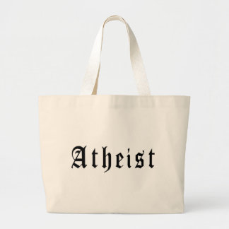 Atheist 1 large tote bag