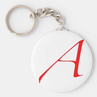 "Atheist ""A""  logo Key Ring"
