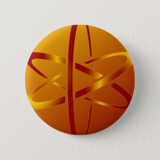 atheist atom 6 cm round badge