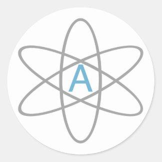 Atheist Atom - Helvetica Round Sticker
