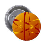 atheist atom pinback buttons