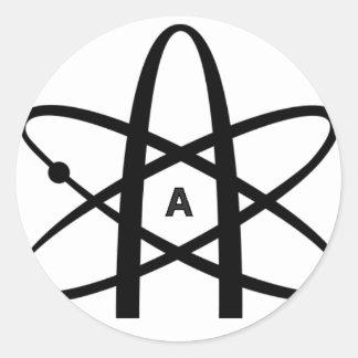 Atheist Atom Round Stickers