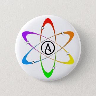Atheist Atom Symbol 6 Cm Round Badge