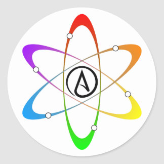 Atheist Atom Symbol Classic Round Sticker