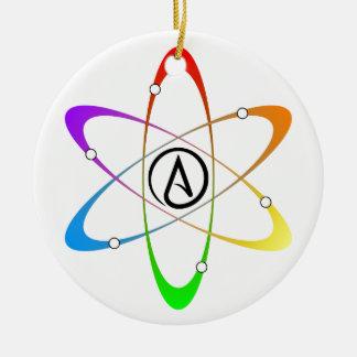 Atheist Atom Symbol Round Ceramic Decoration