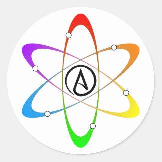 Atheist Atom Symbol Round Sticker