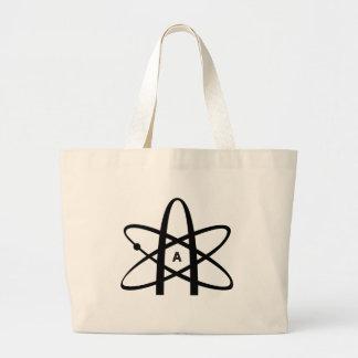Atheist Atom Jumbo Tote Bag