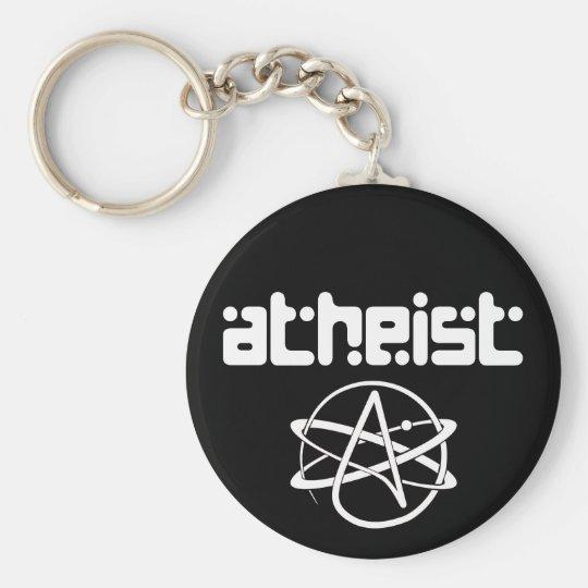 Atheist Basic Round Button Key Ring