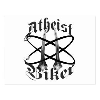 Atheist Biker Postcard