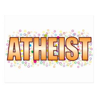 Atheist Bubble Tag Postcard